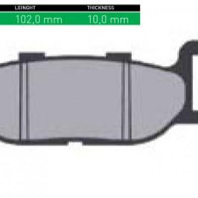 DISK PLOČICE (PAKNE) - ŠIFRA SN680 <BR>* MARKA : SINTER <BR>* MATERIJAL : ORGANIC (ORGANSKE)